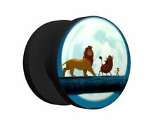 One Of A Kind Lion King screw ear gauges size 2G (6mm) message for other sizes
