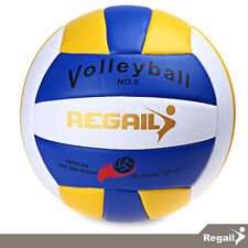 REGAIL -  Volleyball Ball Size 5 Volleyball Volley Beach PU Leather - Outdoor