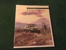 1998 CHEVROLET CHEVY TRACKER Dealer Sales Brochure MINT Original ~ #944