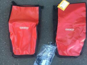 Pair Ortlieb Back City Roller Panniers NWT Red NR