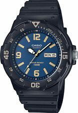 Casio Men's Analog Black Resin Band, 100 Meter, Day/Date, MRW200H-2B3V