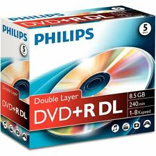 Philips DR8S8J05C 5x DVD+R DL 8,5GB 240 Min. im Jewelcase