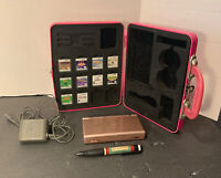 Nintendo DS Lite Bundle-Metallic Pink w/ 9 Games, Charger,STYLUS PEN! TESTED A+