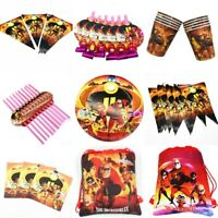 The Incredibles Birthday Party Supplies Filler Bag Tableware Plate Cup Balloon