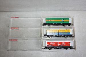 Fleischmann piccolo Wagenset 8245 8233 8243 Containertragwagen Schenker Danzas