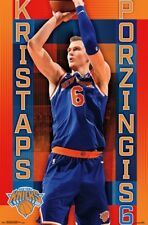 KRISTAPS PORZINGIS - NEW YORK KNICKS POSTER - 22x34 NBA BASKETBALL 16645