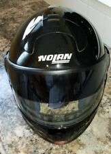 NOLAN N102 SOLID FLIP UP MODULAR MOTORCYCLE HELMET - BLACK