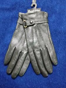 Preston&York Leather Gloves Ladies Women's Size L Color Black