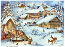 """Nostalgischer Adventskalender """"Schneelandschaft"""" A4 quer Glimmer #65 Sellmer"""