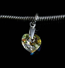 Silver 925 heart charm pendant ideal for branded bracelet or necklace