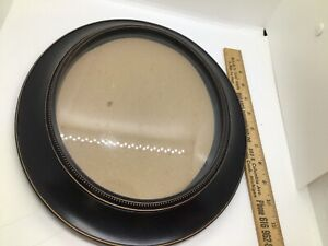 Picture frame Oval Black plastic 13x10.5