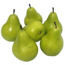 6pcs Artificial Lifelike Simulation Pear Fake Fruit Home Decoration
