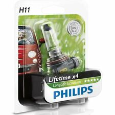Philips H11 55W 12V LongLife EcoVision Bulbs Long lasting 12362LLECOB1 Single