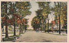 Riverside Drive in Binghamton NY Postcard 1939