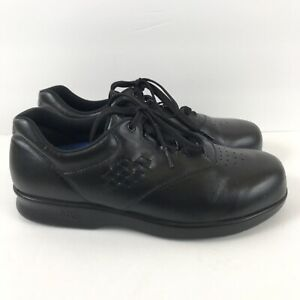 SAS Free Time Women's Black Leather Sneakers 9 W