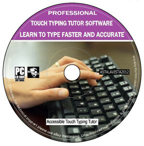 Professional Touch Typing Tutor Learn To Type Faster Accurate PC Software CD