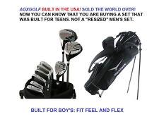 AGXGOLF BOYS LEFT HAND TWEEN MAGNUM COMPLETE GOLF CLUB SET +DRIVER+ST BAG+PUTTER
