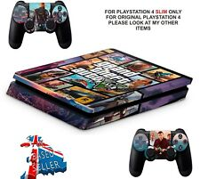 GTA 5 PS4 SLIM**TEXTURED VINYL ! **PROTECTIVE SKINS DECALS WRAP STICKERS