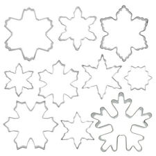 10Pcs Stainless Steel Snowflake Polymer Clay Cutter DIY Baking Tool Cutting Mold