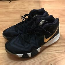 Nike Men's Size 8 Kyrie 4 Navy Blue/Gold/White Basketball Shoes GOOD CONDITION