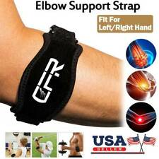 Tendonitis Elbow Support Brace Adjustable Tennis Golf Compression Forearm Straps