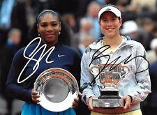 Serena Williams,,Muguruza,Vesnina,Konjuh,Hantuchova,Makarova signed WTA x4