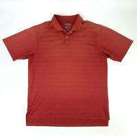 Adidas Climacool Golf Polo Shirt Men's Size M Red Short Sleeve Golfer Golfing *