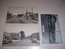1940s GAS STATION & CUNEO'S STORE MAIN STREET VIEWS MANSFIELD MA. POSTCARD LOT