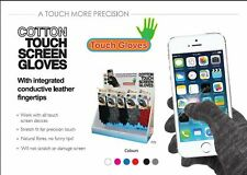 Large Black Cotton Touch Screen Gloves, Entire Glove is Conductive! UK Located