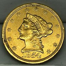 1854- GOLD  $2 1/2  DOLLAR LIBERTY HEAD QUARTER EAGLE COIN LOW MINTAGE $2.50