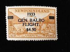 NEWFOUNDLAND: UNUSED #C18 LIGHTLY HINGED OG CV $450