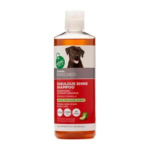 GNC PETS Fabulous Shine Shampoo Vitamin Enriched - Apple Orchard Scent 17 oz NEW