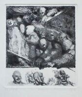 Unleserlich signiert - o. T. - Radierung - 1974 - 12/40