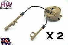 Airsoft Fma PT Helm Schiene Adapter Set Bräunung Sand De Ops Core Peltor Headset