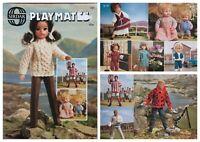 Sirdar Knitting Pattern Book 121 Playmates Fashion Dolls Clothes Premature Baby