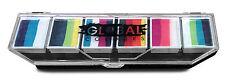 Global Colours 6 x 10g Rainbow BURST Palette, Face Paint makeup Rainbow Cake
