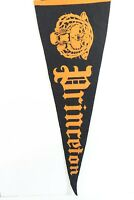 "Vintage Princeton Tigers Pennant 11"" x 28"" 1960's Felt Sports Banner"