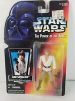 "Kenner STAR WARS Power of The Force Luke Skywalker 3.75"" NIB 1995"