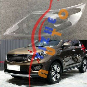 1*Left Side Headlight Cover Clear PC With Glue Replace For KIA Sportage 2015-16