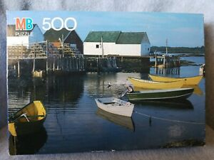 "New Sealed Milton Bradley ""BLUE ROCKS NOVA SCOTIA CANADA"" 500 PC PUZZLE."