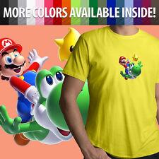 Super Mario Galaxy Nintendo Yoshi Luma Star Unisex Mens Tee Crew Neck T-Shirt