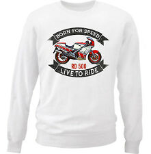 YAHAMA RD 500 - NEW COTTON WHITE SWEATSHIRT ALL SIZES IN STOCK