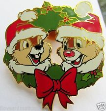 Disney Christmas Wreath Chip & Dale Pin