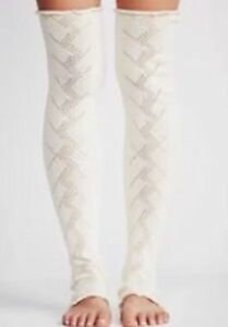 NWOT Free People Leg Warmers  Ivory/Gold