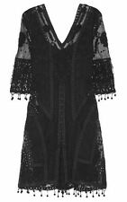 Kate Moss Net A Porter Dress, Embroidered Tulle and Crocheted Lace Black Dress