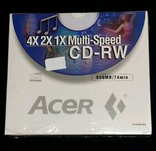 """Acer"" 4x 2x 1x Multi-Speed 650Mb/74 min. Cd-Rw Compact Disc (Pack of 2)"