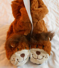 Lion Slippers, Size 6-8, Aromatherapy slippers, bootie, wheat and lavender, Med