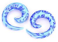 """2g - 5/8"""" Pyrex BLUES Glass Spiral - Price Per 1"""
