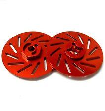 57822lr 1/10 RC M12 12mm roue en alliage adaptateurs avec frein à disque rouge 38mm x 2