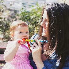 Baby Silicone Teething Nursing Breastfeeding Mum Necklace Bead Chewable Jewelry.
